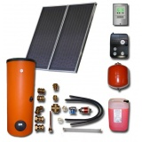 Solar package ENSOL (2 collectors ES2V 2,0S AL) /2W.200/STDC/S18 for 2 or 3 people family