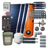 Solar package 3 collectors ES2V/2,0S AL /2W.300/STDC/S24 for 3 - 5 people family