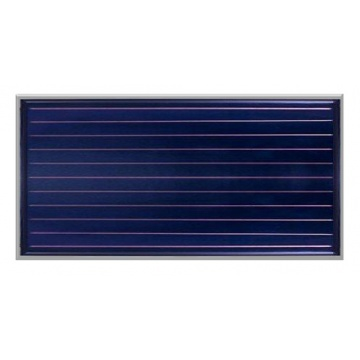 Solar collector ES2H 2,65S - mounted horizontal. Area: 2,65m2 - Silver