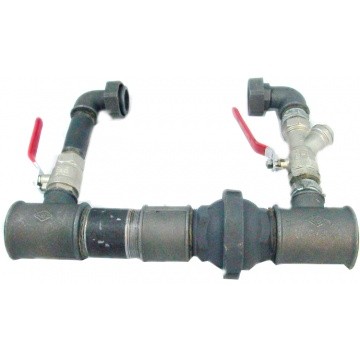 "Pump by-pass (32mm, 5/4"") (made of steel) - for a pump with a 25 mm connection"