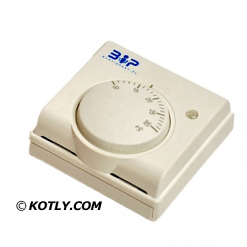 Room thermostat for hot water air heater Aqua-Air