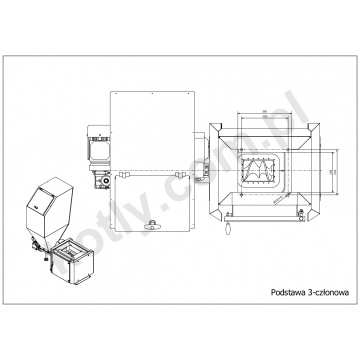 Insulated conversion kit PROSAT 3 class for Viadrus U22, U26 and DAKON FB boiler - 3 segments