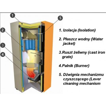 Boiler for pellets EG-Pellet Mini 35 kW