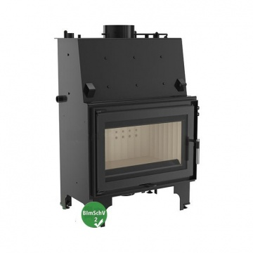 Fireplace with a water jacket Kratki AQUARIO O12 with coil BimSchV2