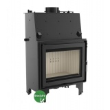 Fireplace with a water jacket Kratki AQUARIO A14 with coil BimSchV2