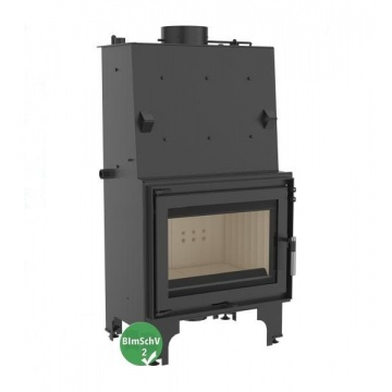 Fireplace with a water jacket Kratki AQUARIO Z14 with coil BimSchV2