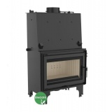 Fireplace with a water jacket Kratki AQUARIO O16 with coil BimSchV2