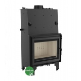 Fireplace with a water jacket Kratki AQUARIO A18 with coil BimSchV2