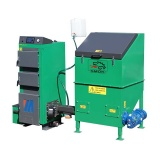 VENTO MULTI 15 kW - Automatic set with cast iron head and 1 m³ fuel container