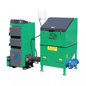 VENTO MULTI 50 kW - Automatic set with cast iron head and 1 m³ fuel container