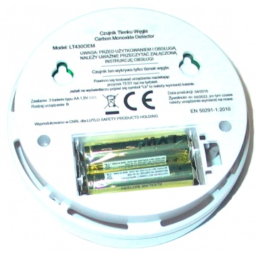 Carbon monoxide detector LT430OEM  - battery powered