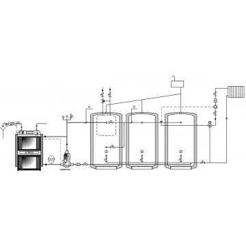 Coal gasification boiler ATMOS C 20S - 25 kW