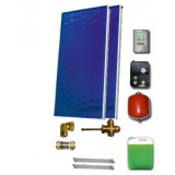 Solar package for 2-3 persons without hot water tank - 2 x collectors EM1V 2,0S Al-Cu, STDC, S18
