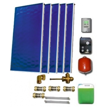 Solar package for 6-8 persons without hot water tank - 5 collectors EM1V 2,0S Al-Cu, STDC, S35