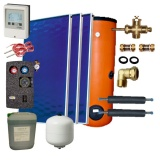 Solar package 3 collectors EM1V 2,0S Al-Cu /2W.300/STDC/S24 for 3 - 5 people family