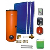 Solar package ENSOL (3 collectors EM1V 2,0S Al-Cu) /2W.300/STDC/S24 for 3 - 5 people family