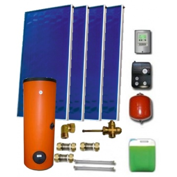 Solar package ENSOL (4 collectors EM1V 2,0S Al-Cu) /2W.400/STDC/S35 for 4 - 6 people family