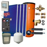 Solar package 4 collectors EM1V 2,0S Al-Cu /2W.400/STDC/S35 for 4 - 6 people family