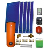 Solar package ENSOL (5 collectors EM1V 2,0S Al-Cu) /2W.500/STDC/S35 for 6 - 8 people family
