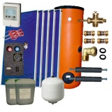 Solar package 5 collectors EM1V 2,0S Al-Cu /2W.500/STDC/S35 for 6 - 8 people family