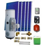 Complete solar package IT (5 collectors EM1V 2,0S Al-Cu/ IT 2W.500) for 6 or 8 people family