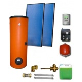 Complete solar package ENSOL (2 collectors ES2V 2,65S Al-Cu) /2W.300/STDC/S24 for 3 or 4 people family