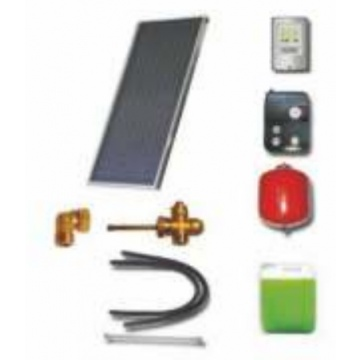 Solar package for 2-3 persons without hot water tank - 1 x collectors ES2V 2,65S Al-Cu, STDC, S18