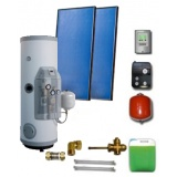 Complete solar package IT  (2 collectors ES2V 2,65S Al-Cu/ IT 2W.300) for 2 or 3 people family