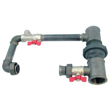 "Pump by-pass (32 mm, 1 1/4"") - horizontal"