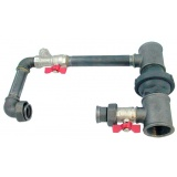 "Pump by-pass (40 mm, 1 1/2"") - horizontal"