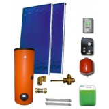 Solar package ENSOL (2 collectors EM1V 2,0S Al-Cu) /2W.200/STDC/S18 for 2 or 3 people family