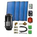 Complete solar package for support of the central heating (4 collectors ES2V 2,65S Al-Cu) for 6-8 people family