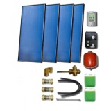 Solar package for 5-7 persons without hot water tank - 4 collectors ES2V/2,65S Al.-Cu, STDC, S35
