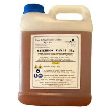 Anti-corrosion and anti-scaling liquid WATERDOS CAN11 2kg (for central heating instalations)