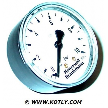 "Manometer HONEYWELL - 10 Bar (Gewinde 1/4"" hinten)"