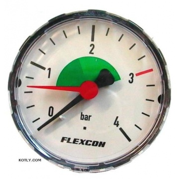 "Manometer FLAMCO - 4 bar (thread: 1/4"" rear connection)"