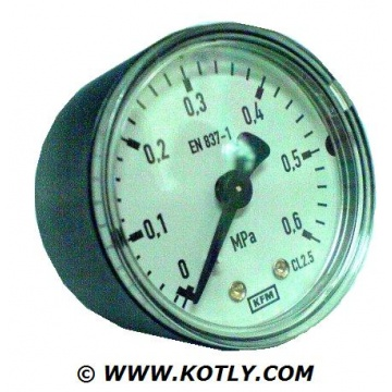 "Manometer KFM - 0,6 MPa (thread: 1/4"", rear connection)"