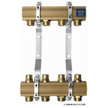 "Manifold KAN - 1"" with regulation valves - 12 heating circuits"