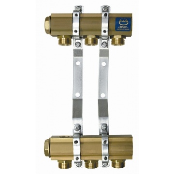 "Manifold KAN - 1"" with fittings 3/4"" - 10 heating circuits"