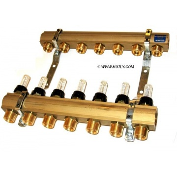 "Manifold   KAN - 1"" with flometers - 8 heating circuits"