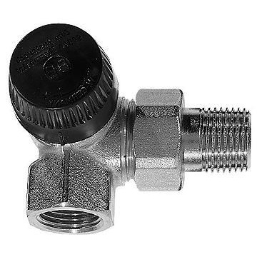 "Thermostatic valve body Honeywell V2000VS - corner angle: left (threads: 1/2"")"