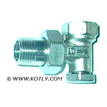 "Lockshield valve DN 15 - angle (threads: 1/2"")"