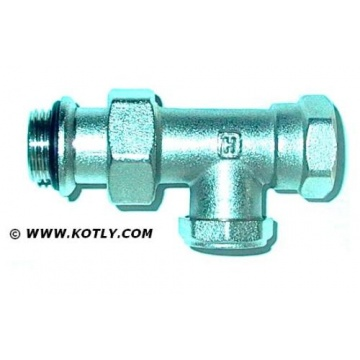 "Lockshield valve Honeywell V340D015 - straight (threads: 1/2"")"