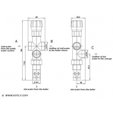 Two-way thermal release valve Regulus DBV